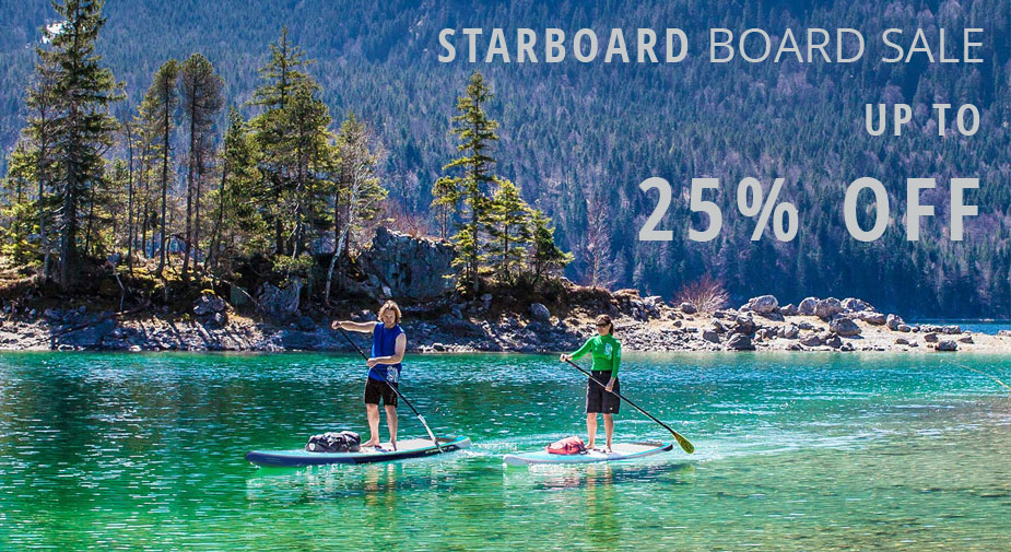 25% off Starboard inflatable SUP Sale