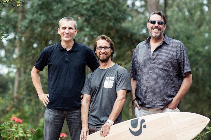 Sunova Paddle Board Co owners Klaus, Martin and Burt