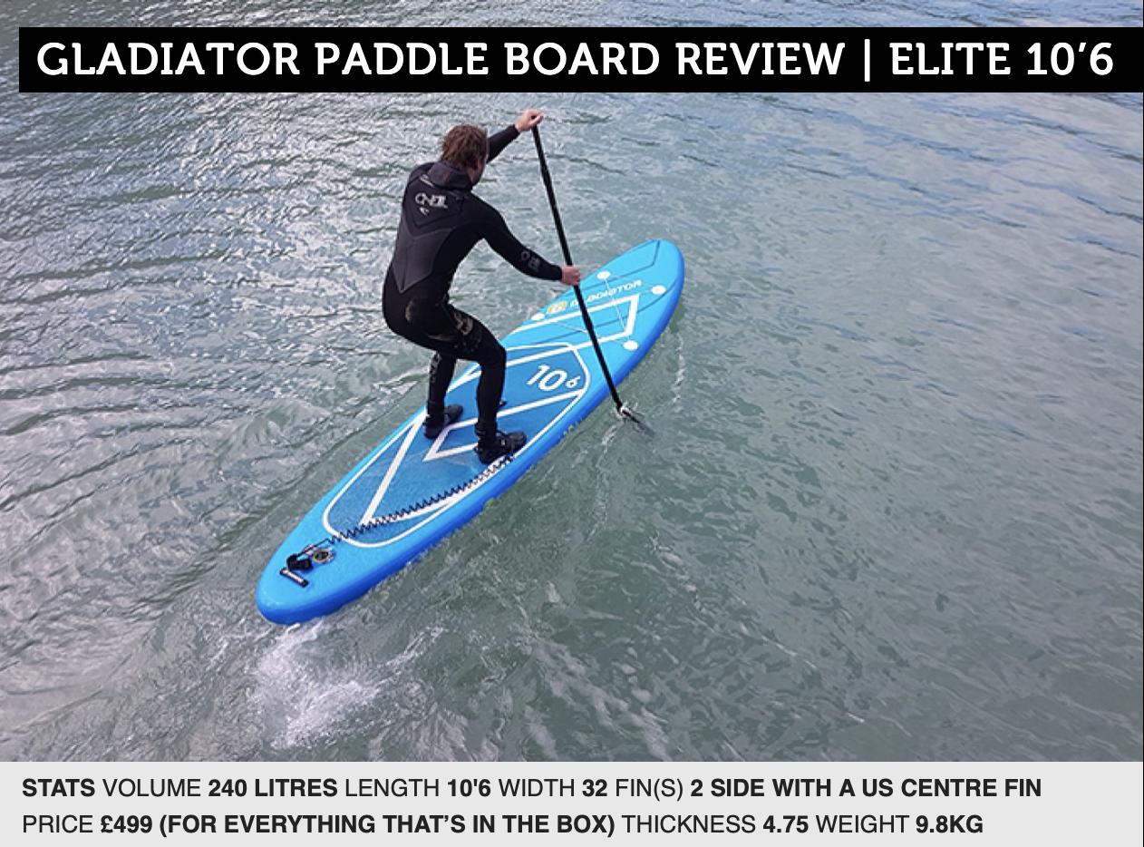 Gladiator Elite 10'6 Paddle Board